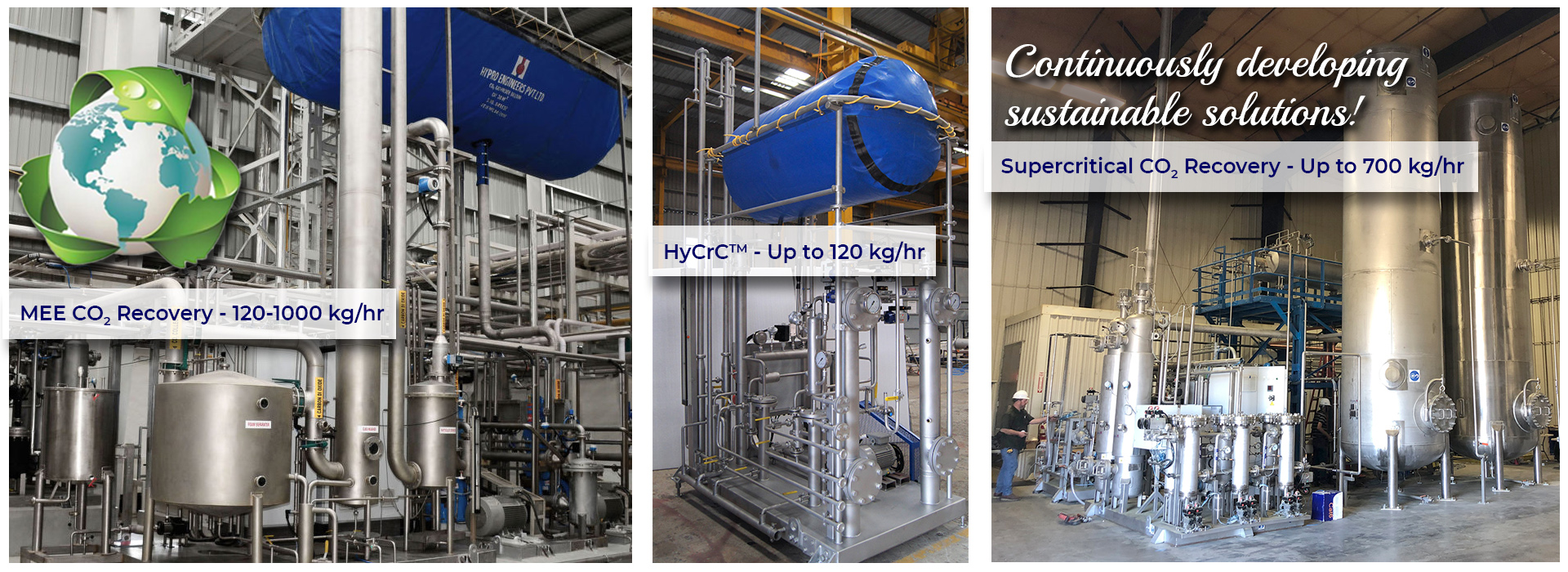 CO2 recovery product range