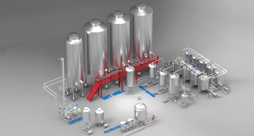 Large Brewery setup Hypro